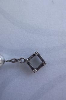 сребърна гривна с камъни